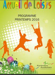 Centre de loisirs Printemps 2016