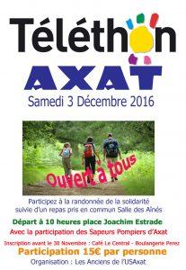 Téléthon le 3 Décembre à Axat