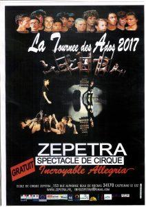 L'école de cirque Zepetra en représentation