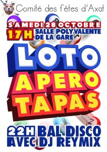 Loto/Apéro Tapas/Bal Disco