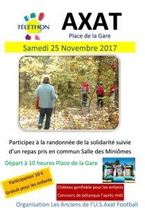 Randonnée de la Solidarité Samedi 25 Novembre