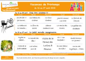 ALSH Programme des vacances de printemps