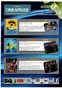 Programme Cinéma 2 Juin