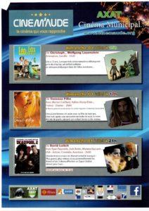 Programme Cinéma 1er Juillet