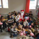Le Père Noël en visite à l'Ecole