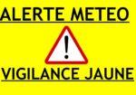 Episode météo – vigilance JAUNE : Pluie-inondation, Orages